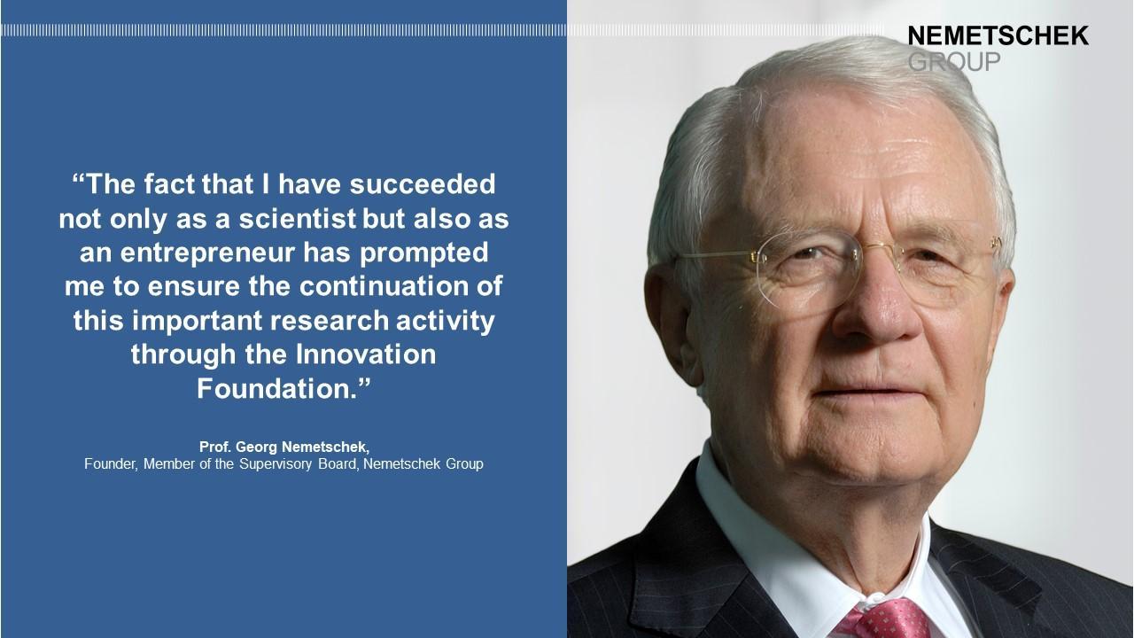Prof. Georg Nemetschek establishes Innovation Foundation